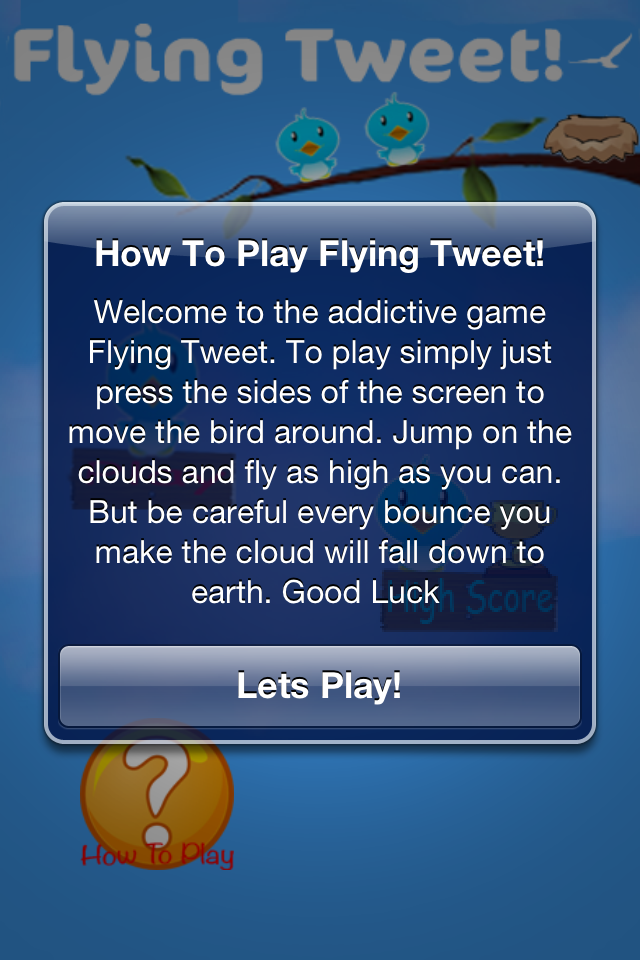 Screenshot Flying Tweet