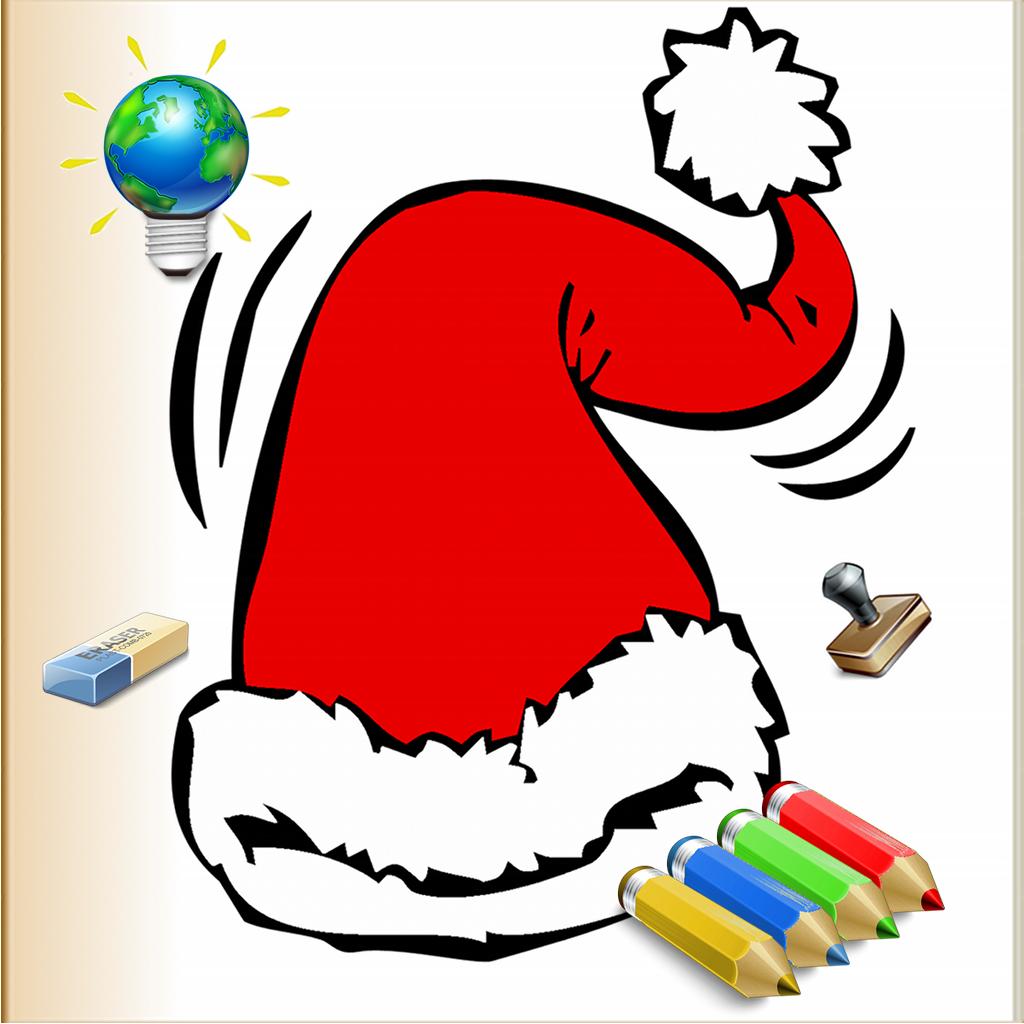 Navidad para los niños coloridos para el iPhone con lápices de ...